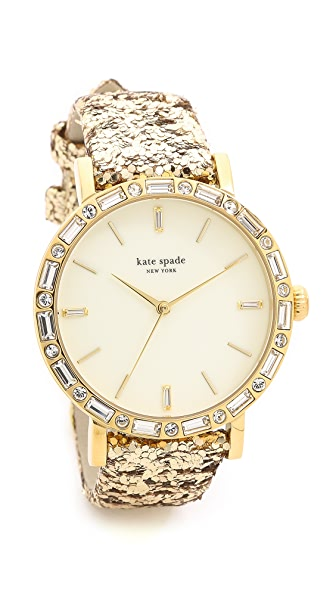 Kate Spade New York Pave Interchangeable Strap Metro Grand Watch