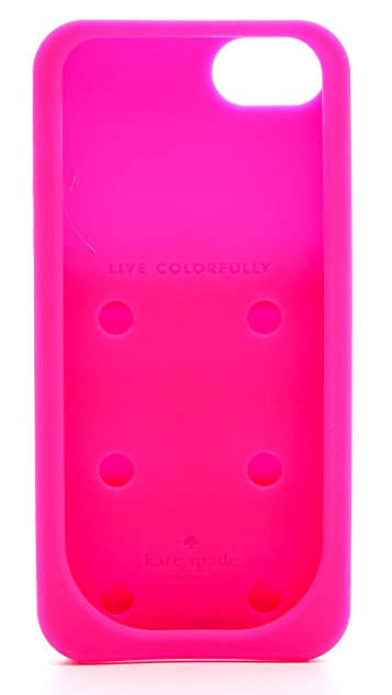 Kate Spade New York Silicone Stripe Pockets iPhone 5 / 5S Case