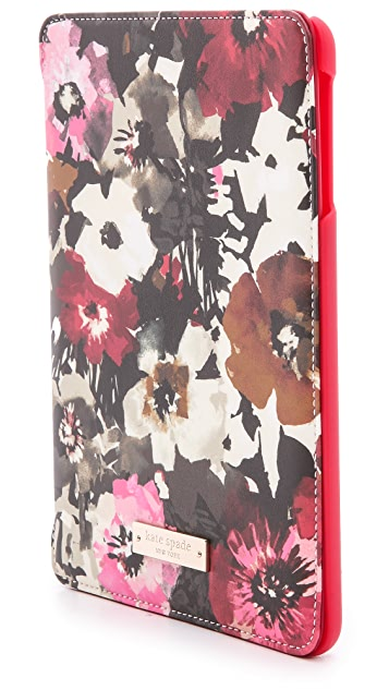 Kate Spade New York Autumn Floral iPad mini Folio Hard Case