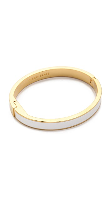 Kate Spade New York Clean Slate Hinged Bangle Bracelet