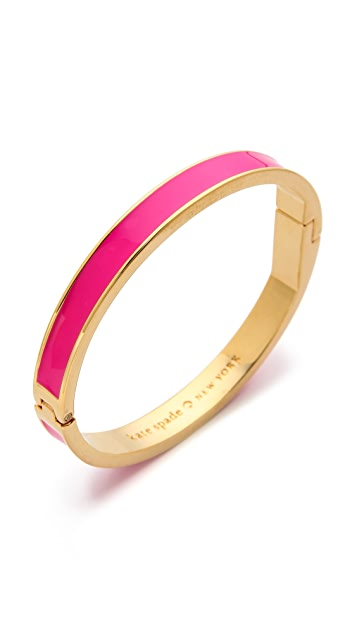 Kate Spade New York Tickled Pink Hinged Bangle Bracelet