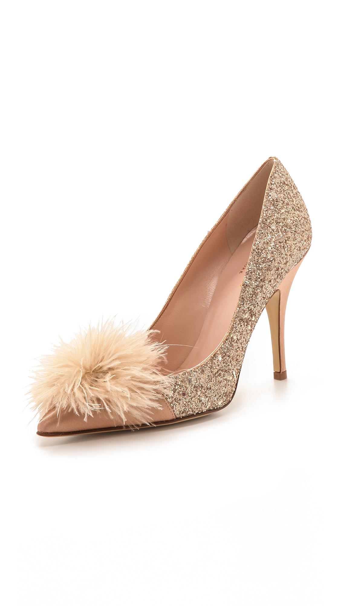e0f9b214511 Kate Spade New York Lilo Marabou Glitter Pumps | SHOPBOP