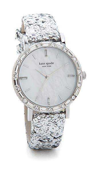 Kate Spade New York Pave Interchangeable Metro Watch Set