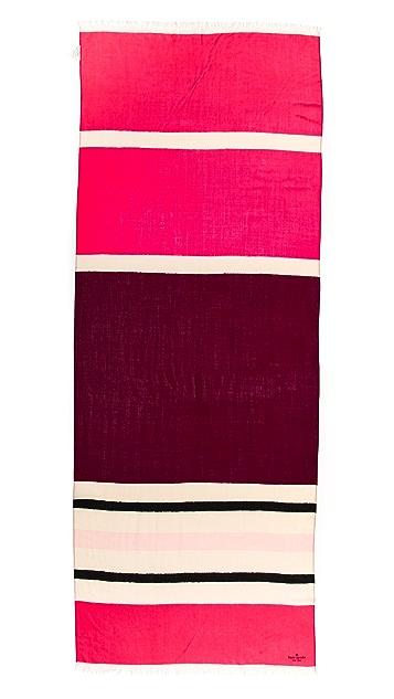 Kate Spade New York Holiday Textured Stripe Scarf