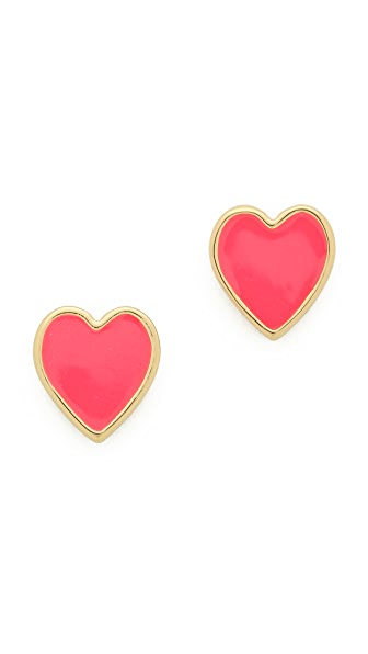 Kate Spade New York Серьги-гвоздики Dear Valentine