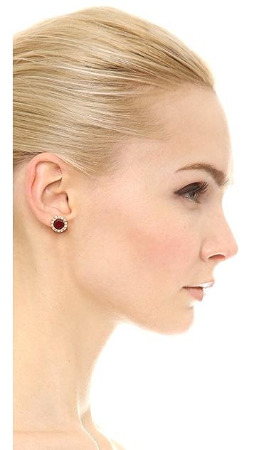 Kate Spade New York Basket Pave Stud Earrings