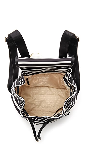 Kate Spade New York Classic Nylon Stripe Molly Backpack