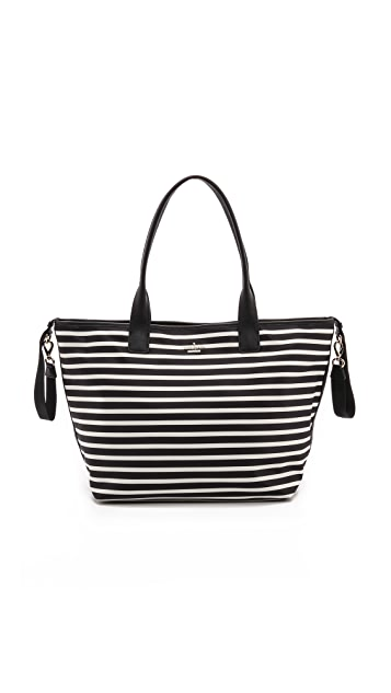 Kate Spade New York Classic Nylon Striped Brynne Baby Bag