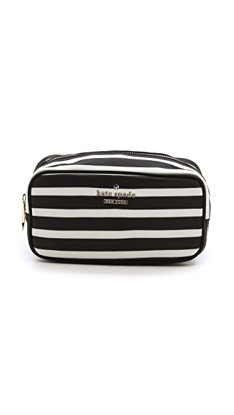Kate Spade New York Ezra Small Striped Cosmetic Case