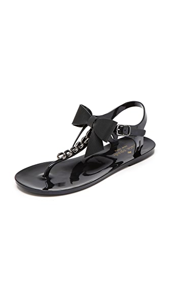 Kate Spade New York Flise Bow Jelly Sandals