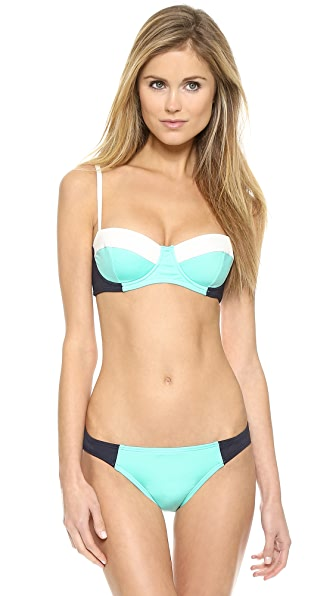 Kate Spade New York Parrot Cay Colorblock Underwire Bikini Top