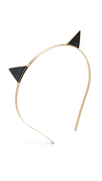 Kate Spade New York Enamel Cat Ear Headband