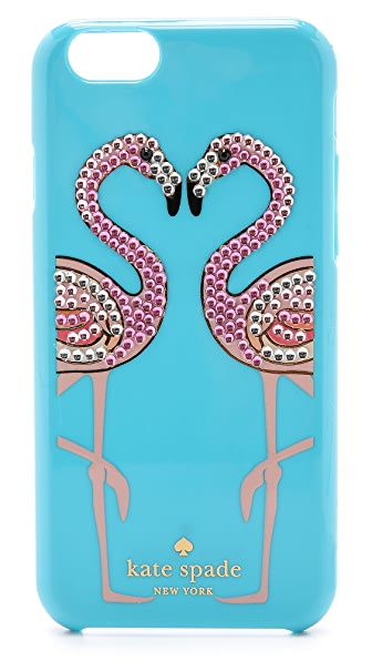 Kate Spade New York Embellished Flamingos iPhone 6 Case