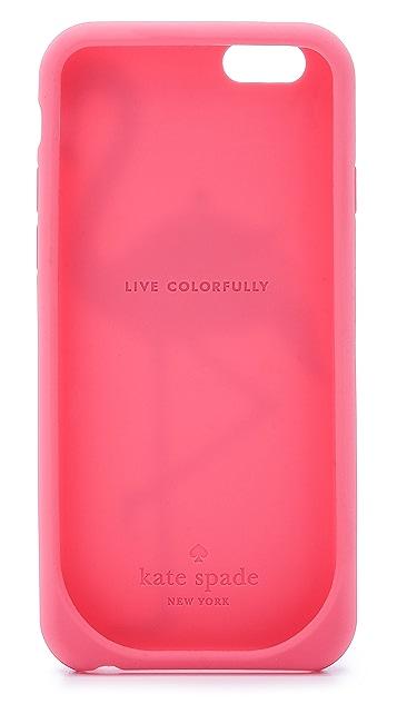 Kate Spade New York Flamingo Silicone iPhone 6 Case