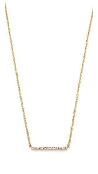 Kate Spade New York Dainty Sparklers Bar Pendant Necklace