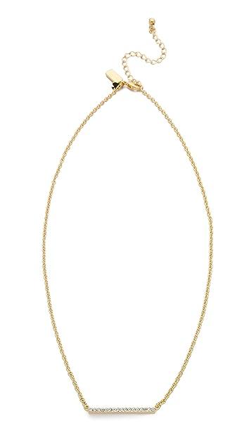 Kate Spade New York Dainty Sparklers Bar Pendant Necklace