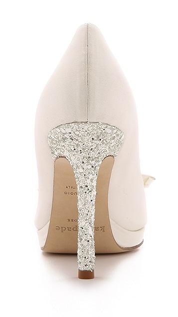 Kate Spade New York Felisha Bow Peep Toe Pumps