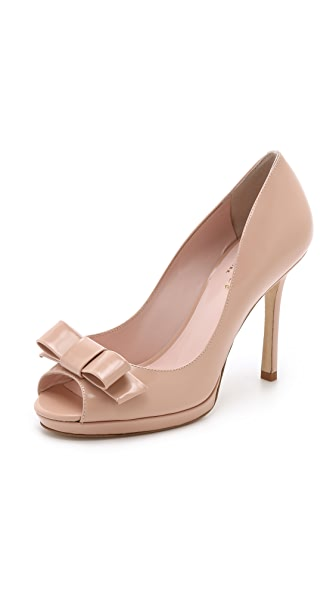 Kate Spade New York Felisha Bow Peep Toe Pumps