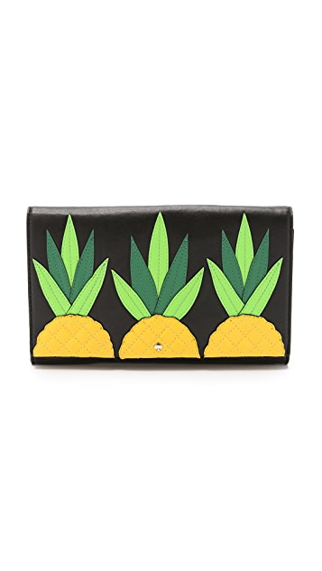 Kate Spade New York Tally Pineapple Clutch