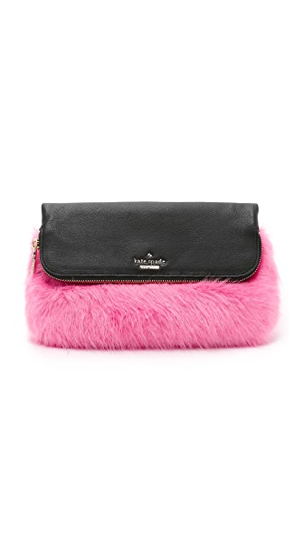 Kate Spade New York Faux Fur Clutch
