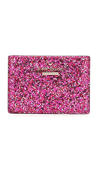 Kate Spade New York Glitter Bug Card Holder