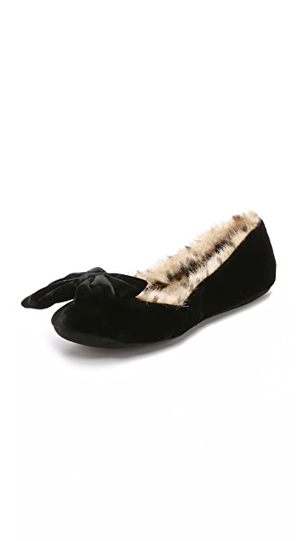 Kate Spade New York Scarlett Faux Fur Slippers