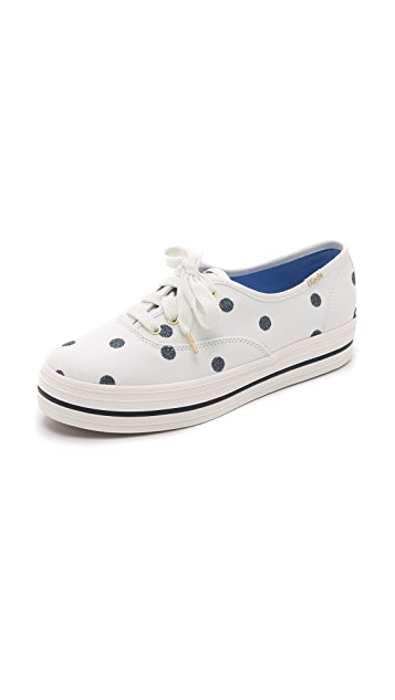 Kate Spade New York Keds for Kate Spade Triple Kick Dot Sneakers