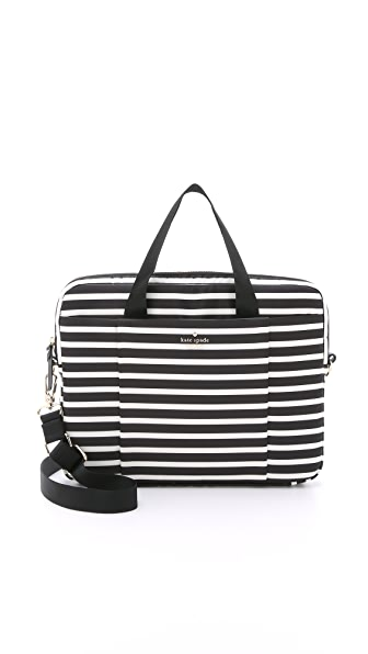"Kate Spade New York Classic Nylon 13"" Stripe Laptop Commuter Bag"
