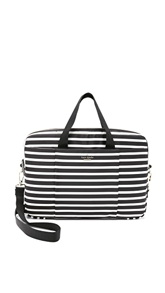 "Kate Spade New York Classic Nylon Stripe 15"" Laptop Commuter Bag"