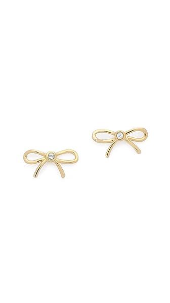 Kate Spade New York Dainty Sparkler Bow Stud Earrings