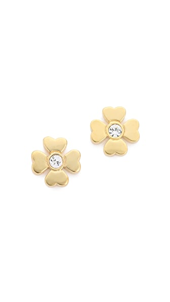 Kate Spade New York Dainty Sparkler Clover Stud Earrings