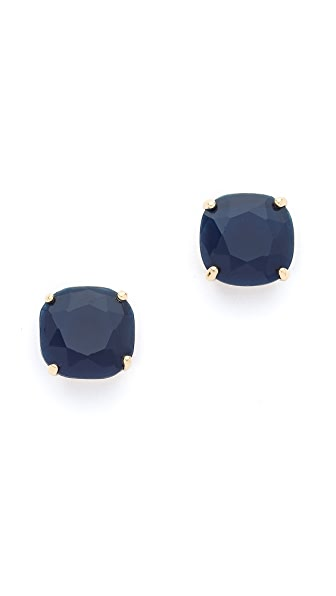 Kate Spade New York Small Square Stud Earrings - Navy
