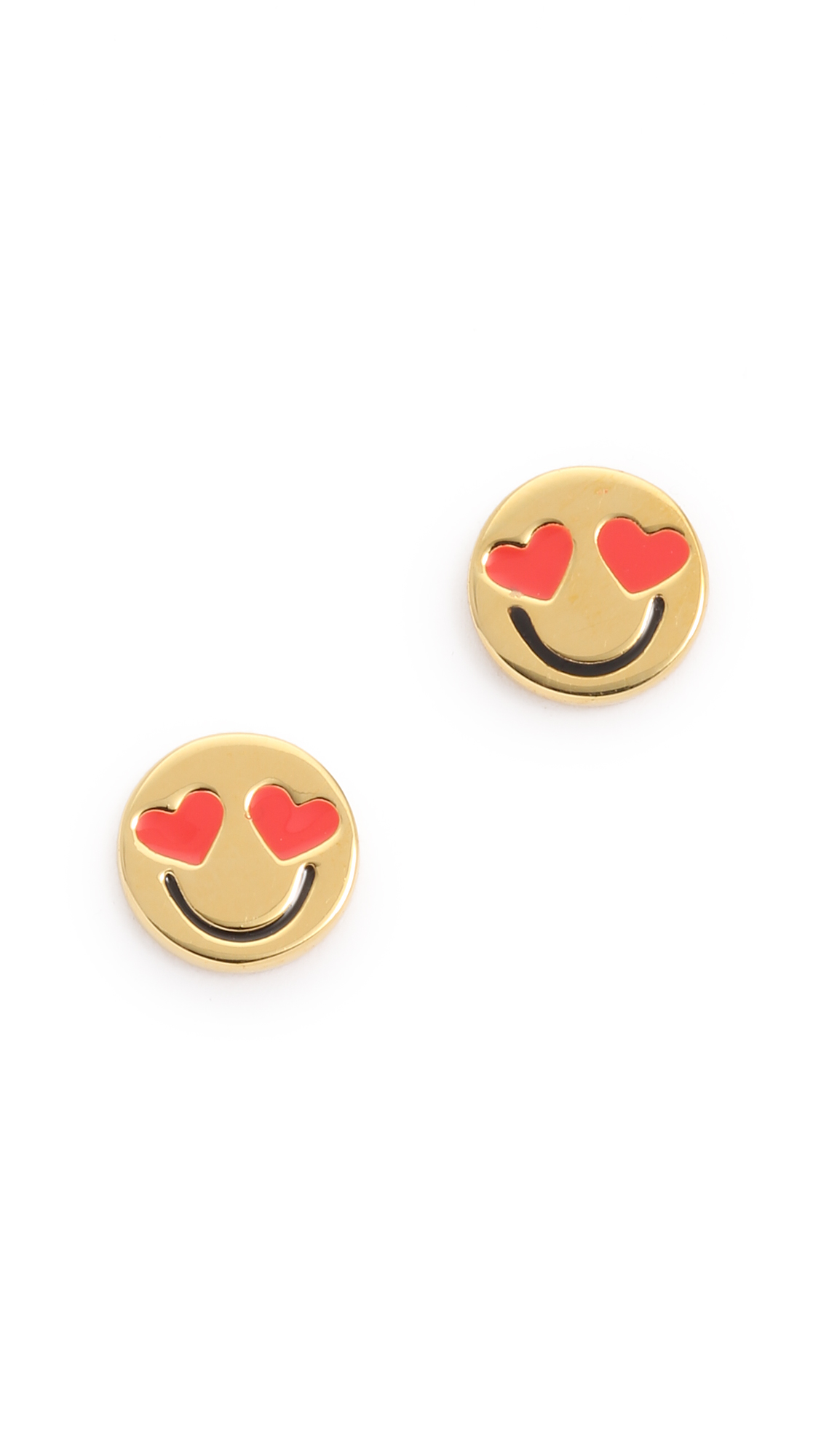 earrings jewelry pack of stud orders emoji over overstock free gold watches pairs shipping on white product