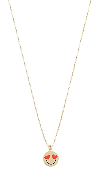 Kate Spade New York Smitten Emoji Pendant Necklace