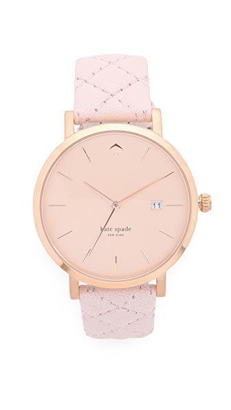Kate Spade New York Metro Grand Quilted Strap Watch - Pale Pink/Rose Gold at Shopbop