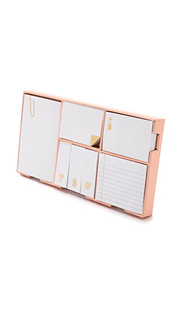 Kate Spade New York Strike Gold Sticky Note Set