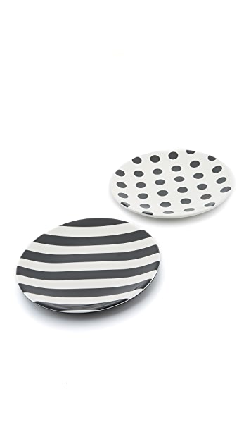Kate Spade New York Raise a Glass Tidbit Plate Set