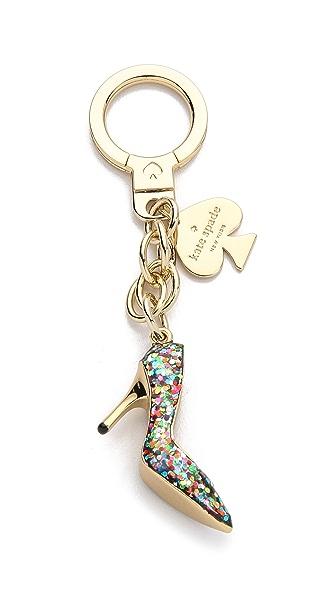 kate spade glitter pump keychain