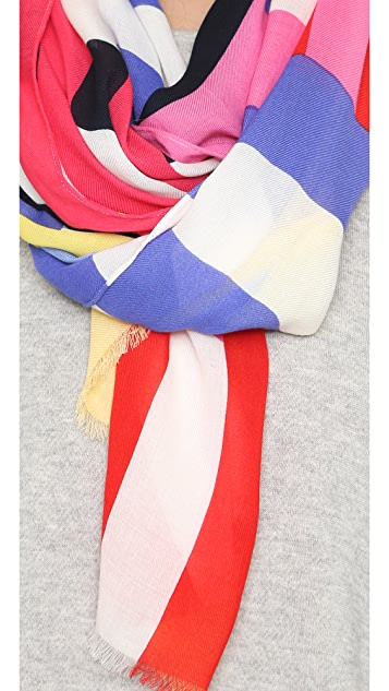 Kate Spade New York Flage Stripes Oblong Scarf