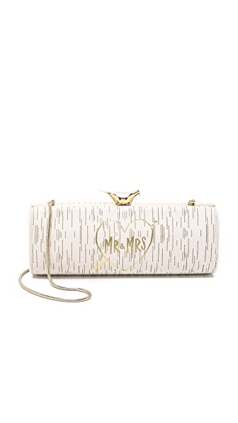 Kate Spade New York Wedding Belles Mr. & Mrs. Log Clutch