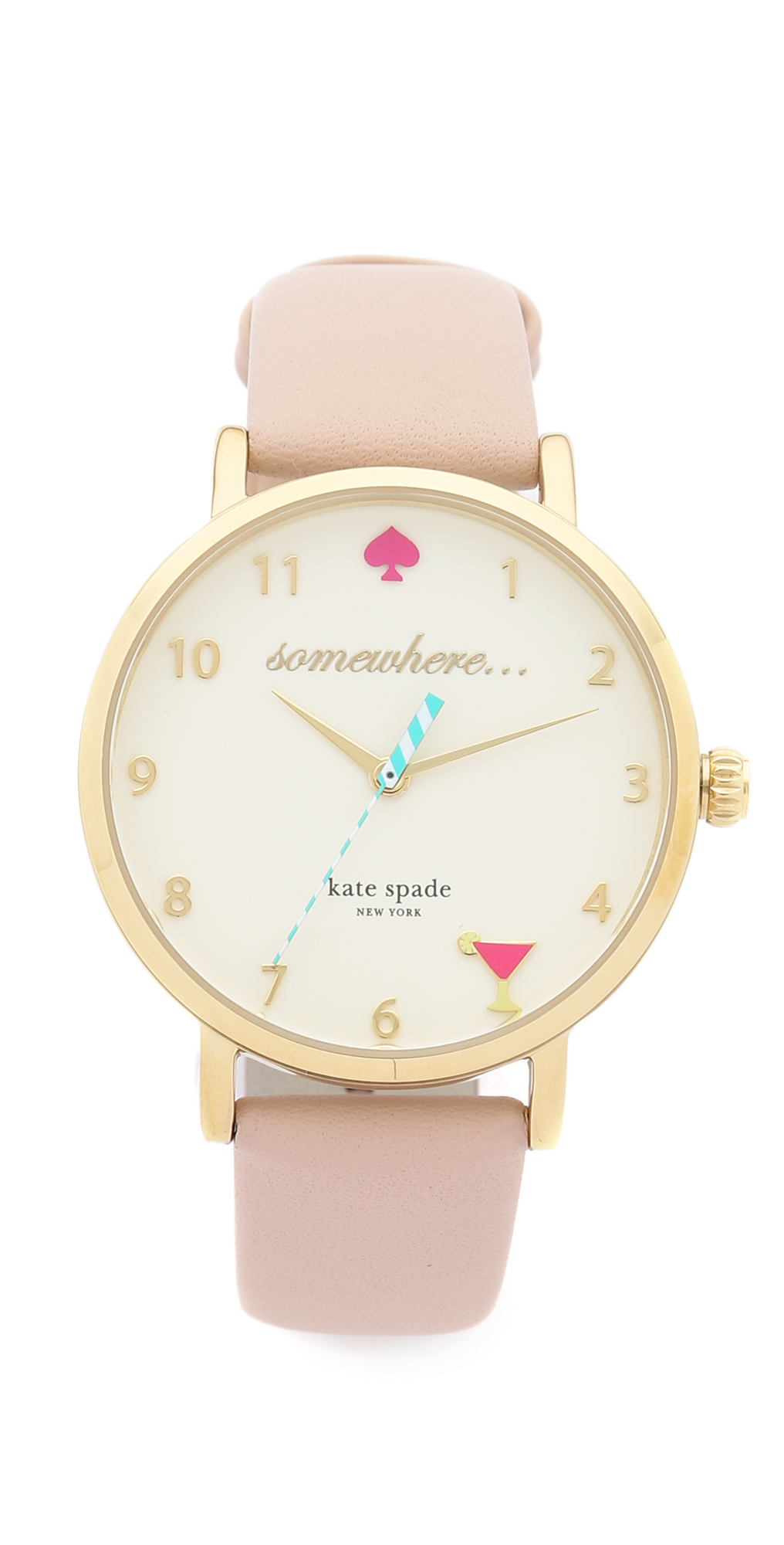5 O'Clock Metro Leather Watch Kate Spade New York