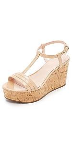 Tallin Cork Wedge Sandals                Kate Spade New York