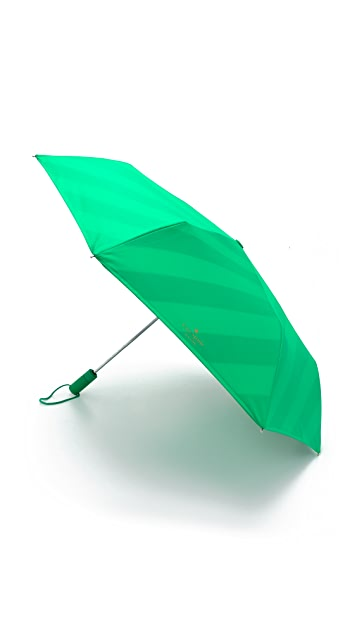 Kate Spade New York Stripes Travel Umbrella