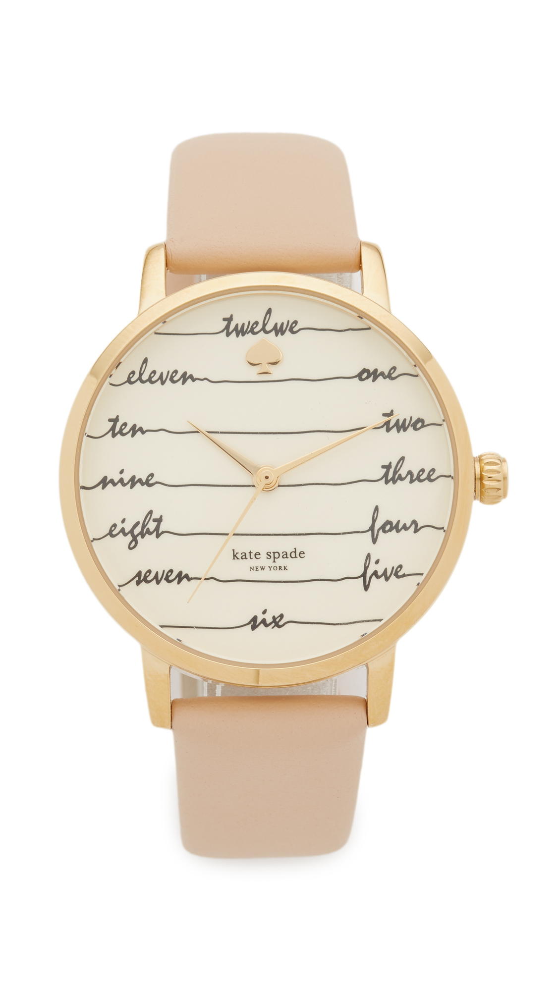 Kate Spade New York Metro Watch - Tan/Gold at Shopbop