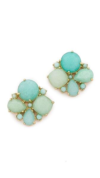 Kate Spade New York Seastone Sparkle Cluster Stud Earrings