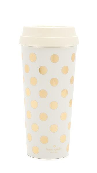 Kate Spade New York Gold Dots Thermal Mug