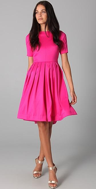 Katie Ermilio Double Pintuck Dress
