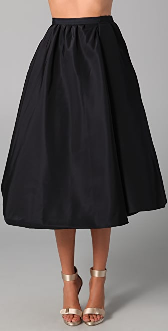 Katie Ermilio Double Swing Skirt