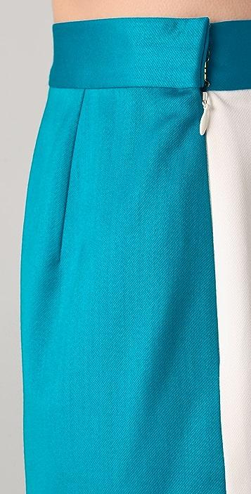 Katie Ermilio Reversible Colorblock Shorts