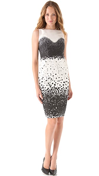 Katie Ermilio Pearl Shaded Sheath Dress